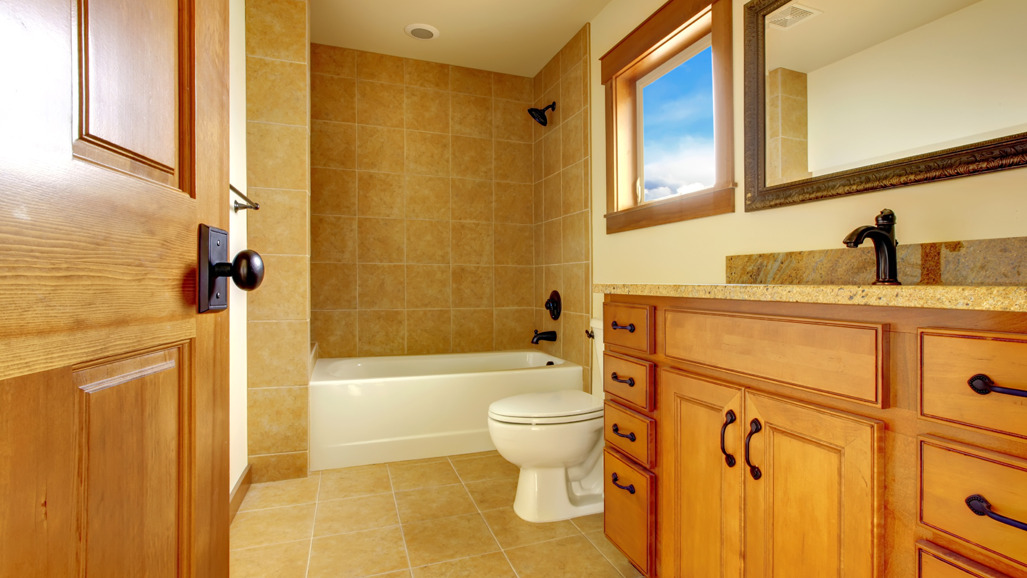 A beautifully remodeled bathroom in Palantine, IL by Edy's Flooring, Inc.